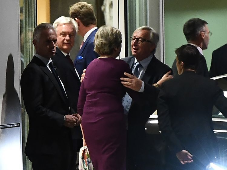 Image result for theresa may in brussels after dinner