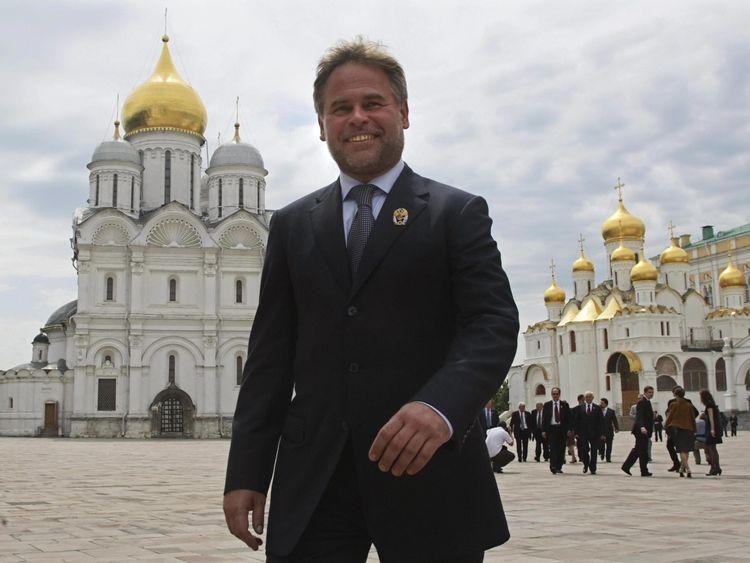 Eugene Kaspersky leaving the Kremlin in Moscow on June 12, 2009