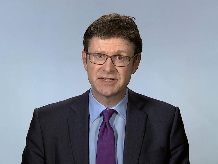 Business Secretary Greg Clarke talks to Sky News