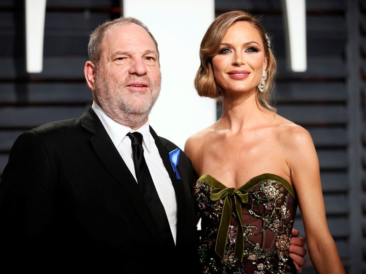Harvey Weinstein and his wife Georgina Chapman