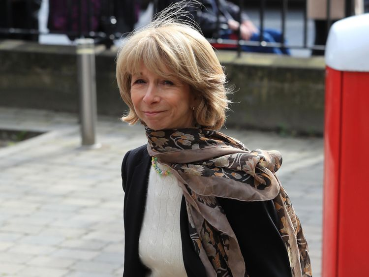 Corrie star Helen Worth arriving at Liz Dawn's funeral at Salford Cathedral