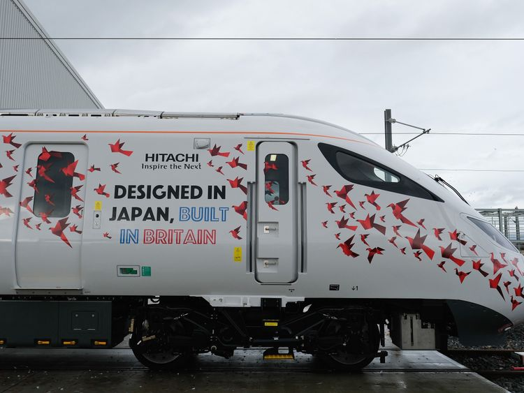The first British-built Intercity Express train which was unveiled in December, last year