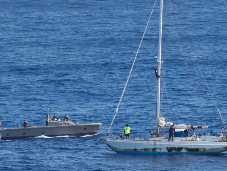 The fortunate sailors were rescued after being at sea for five months