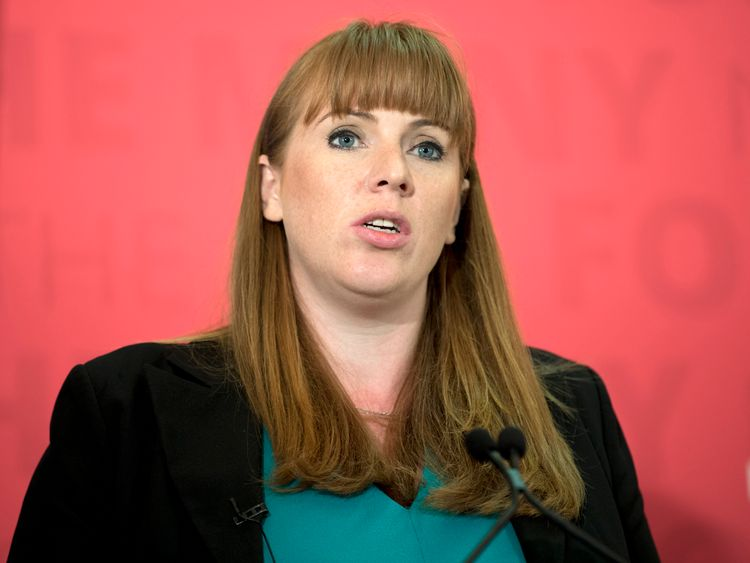 Britain's main opposition Labour party's Shadow Education Secretary Angela Rayner