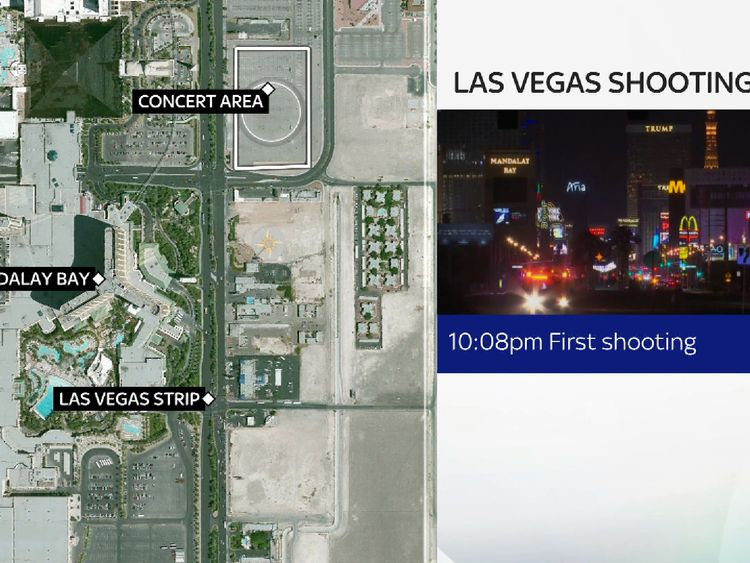 The killer opened fire on music fans from the Mandalay Bay Hotel