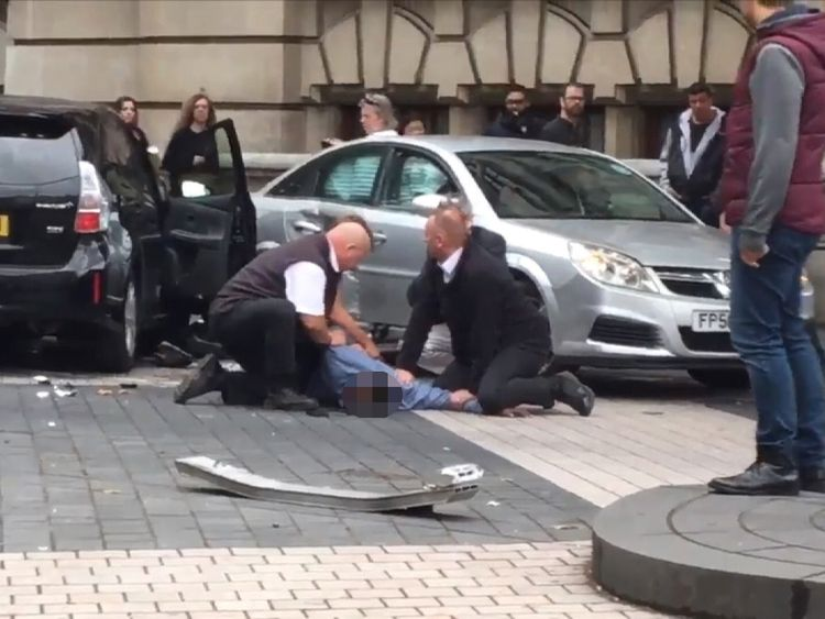 Man held down near Natural History Museum