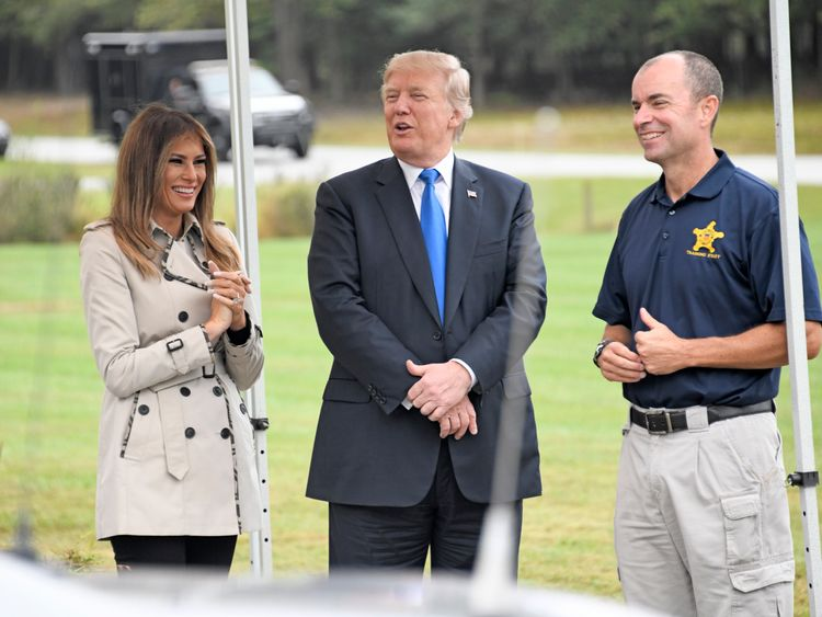 The President and First Lady during their trip to the Secret Service training facility