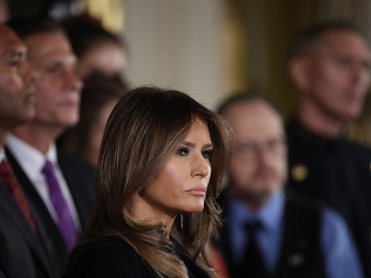 Melania Trump spoke of cases of addictions she encountered