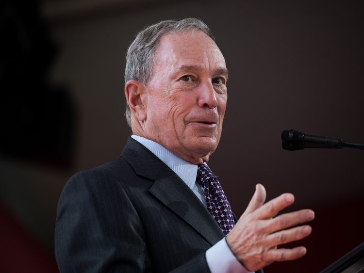Former New York City Mayor Michael Bloomberg delivers remarks during a dedication ceremony to mark the opening of the new campus of Cornell Tech on Roosevelt Island, September 13, 2017