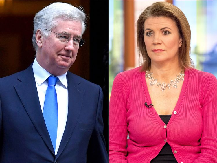 Michael Fallon replaced as Defence secretary