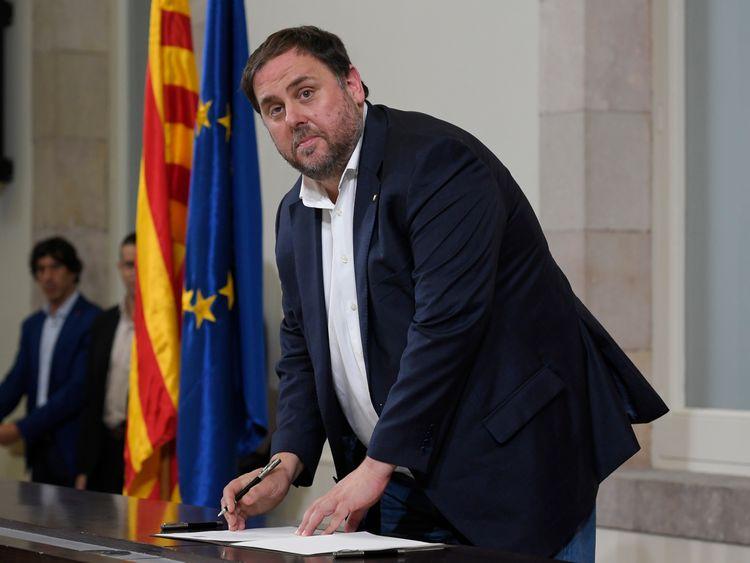 Catalan regional vice president Oriol Junqueras
