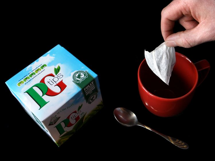 Generic shot of PG Tips, made by FTSE 100 company Unilever