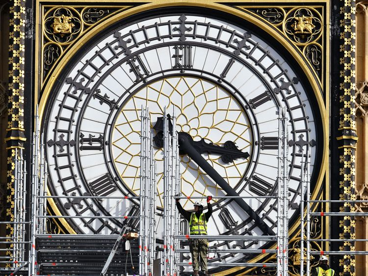 Quiet for months, London's Big Ben bell chimes again
