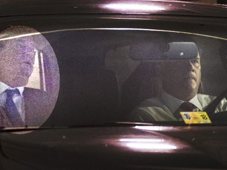 Paul Manafort leaves his home in Alexandria, Virginia