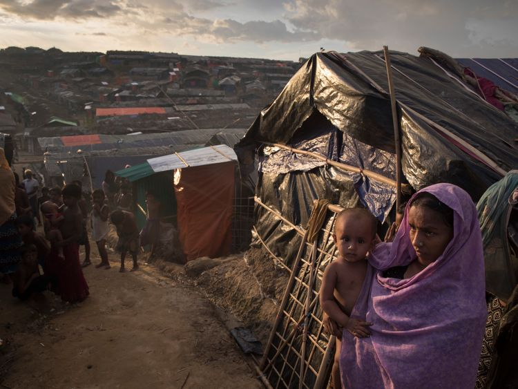 The Bangladeshi refugee camp at Cox's Bazar is to be expanded to house around 800,000 people