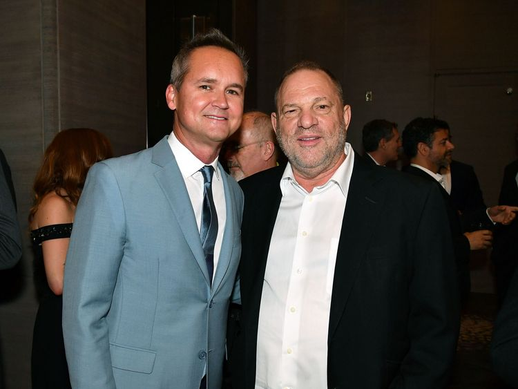 Roy Price (L) and Harvey Weinstein