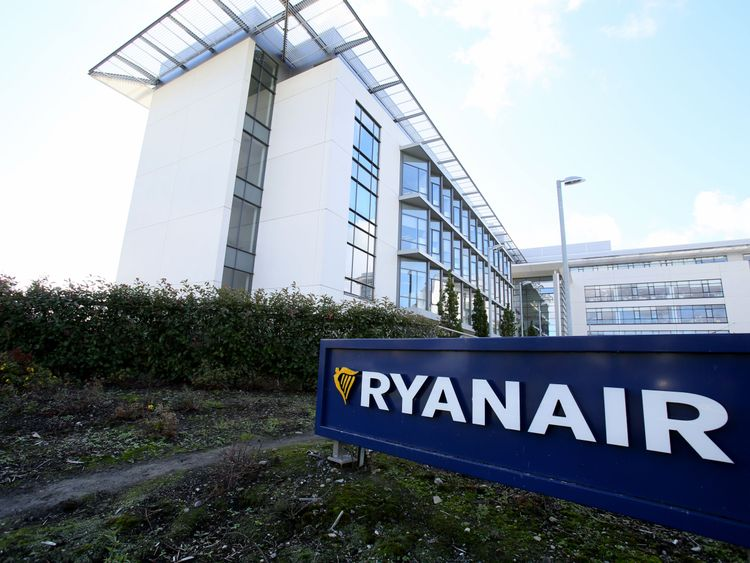 Ryanair's Dublin headquarters