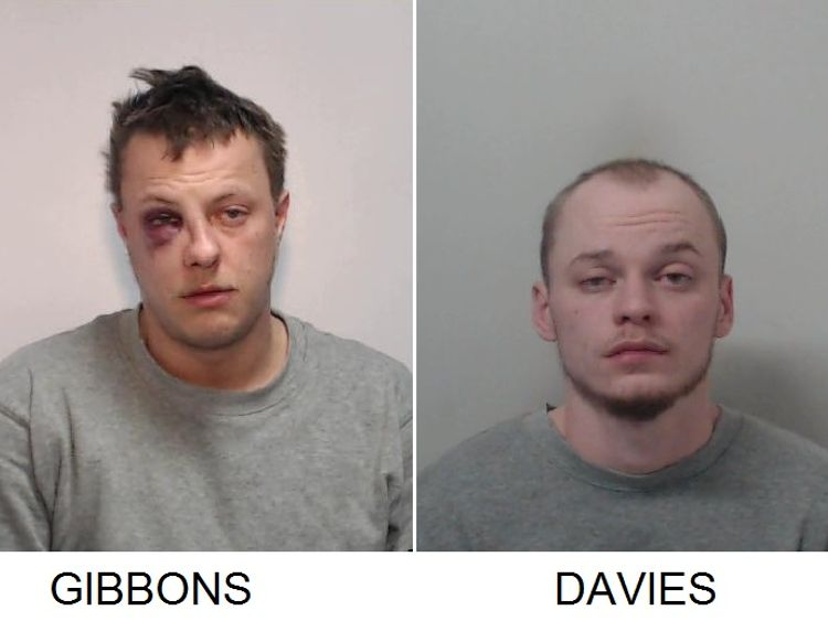 Ryan Gibbons (L) was convicted of murder and Raymond Davies of manslaughter
