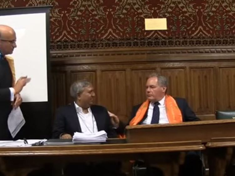 Tapan Ghosh at the parliamentary event with Tory MP Bob Blackman