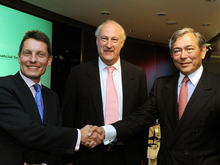 Sir Victor Blank (l) and Eric Daniels are pictured at the time of the HBOS deal