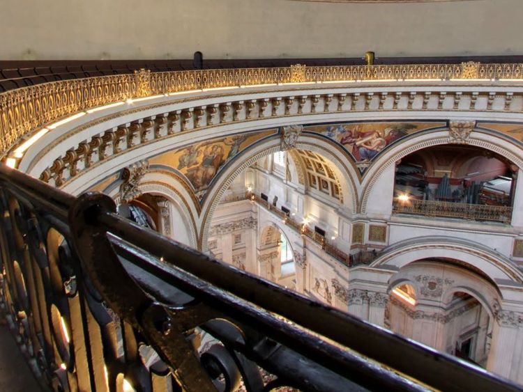 The Whispering Gallery runs around the interior of the cathedral's dome. Pic: St Paul's Cathedral