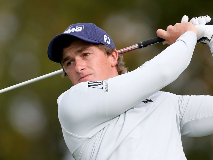 Ireland's Paul Dunne during day four of the British Masters at Close House Golf Club, Newcastle.
