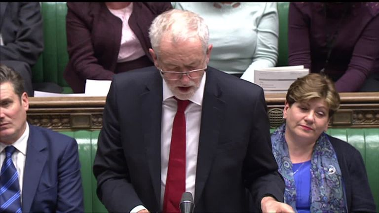 Labour leader Jeremy Corbyn responds to Theresa May's Brexit statement
