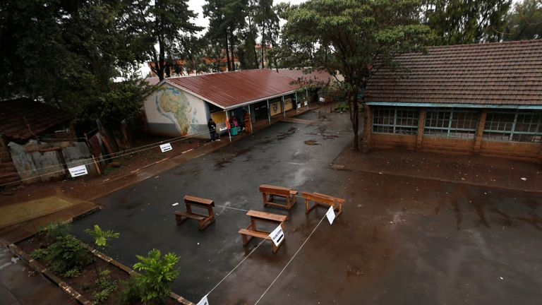 No queues at this polling station in the capital Nairobi