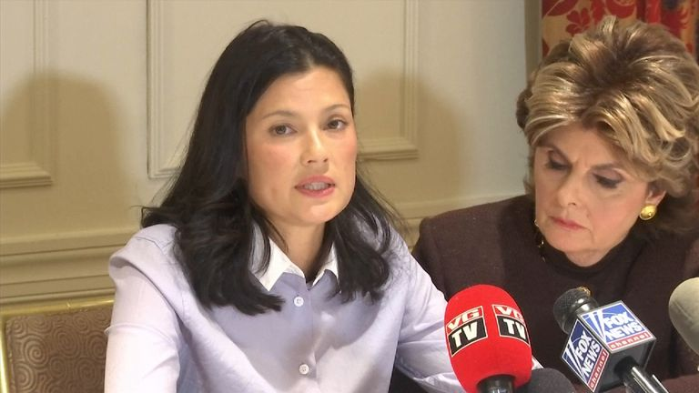 Natassia Malthe says she 'played dead' during the alleged assault by Weinstein