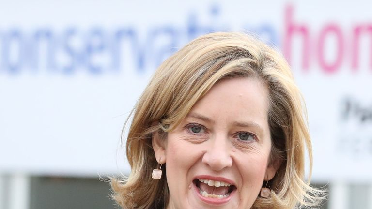 Home Secretary Amber Rudd at the Conservative Party Conference at the Manchester Central Convention Complex in Manchester.