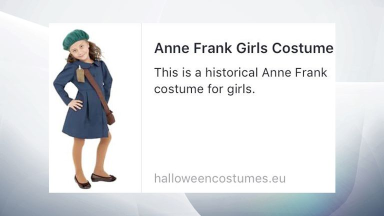 Halloween Costume 303.Appalling Anne Frank Costume Pulled By Us Halloween Fancy Dress