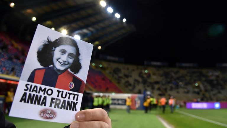 As well tributes to Anne Frank, Lazio organised trips to Auschwitz and a synagogue