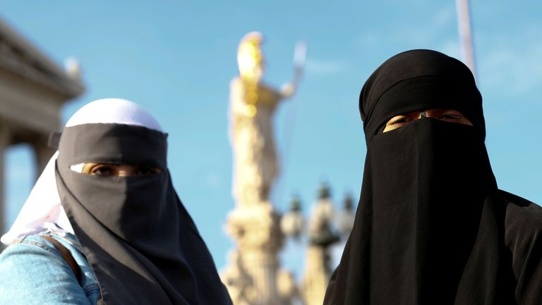 People in Austria protested when the ban of full face coverings came into force at the start of October