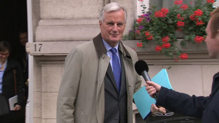 Michel Barnier after a working lunch with David Davis