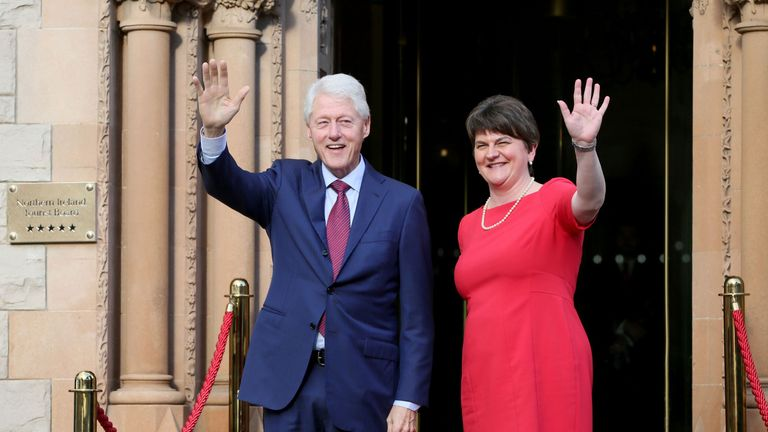 Bill Clinton and Arlene Foster