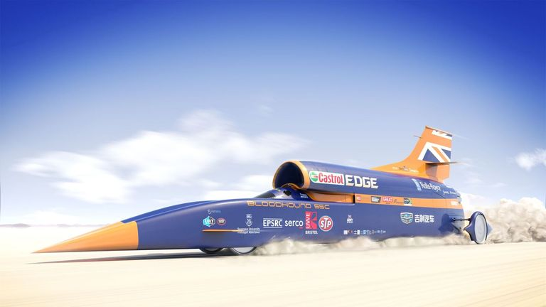 Supersonic car to reach record speeds