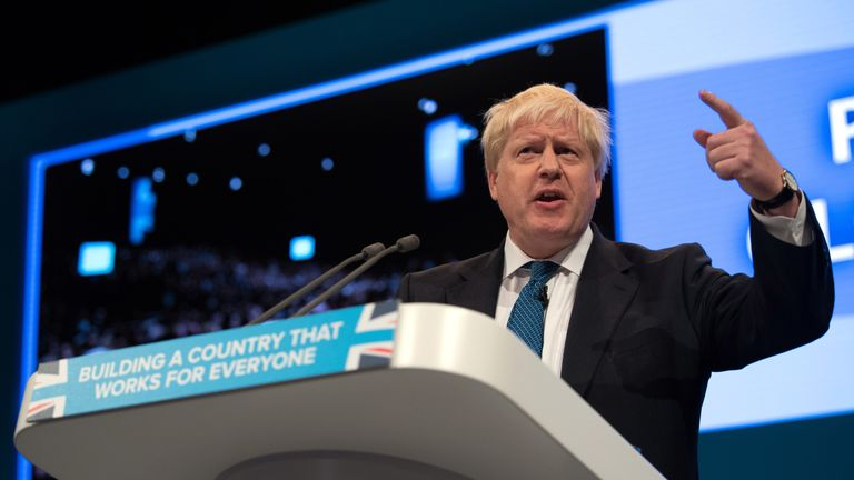 The Foreign Secretary praises Theresa May and leads a scathing attack on Jeremy Corbyn.