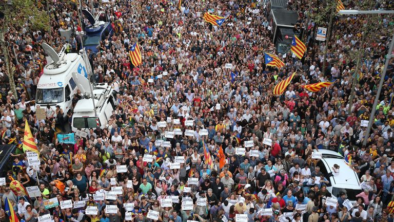 Hundreds of thousands joined protests