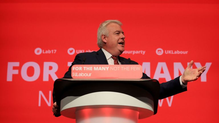 First Minister of Wales, Carwyn Jones, delivers a speech during the Labour Party conference in Brighton.