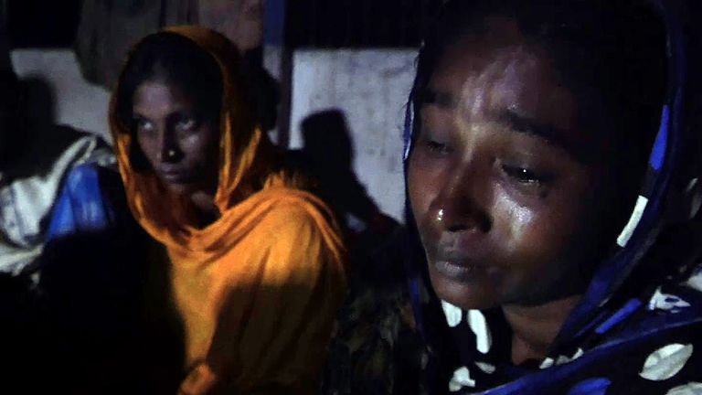 I watched my children drown': Rohingya mother shares