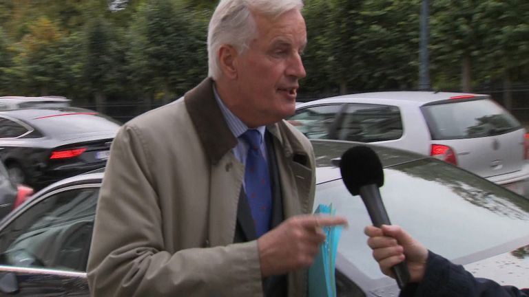 "EU chief negotiator Michel Barnier told reporters ""Brexit is not a game""."
