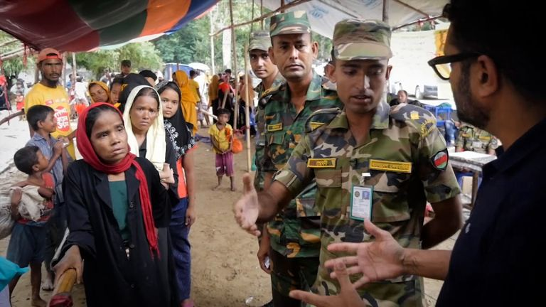 The Bangladesh army is helping run the refugee camp