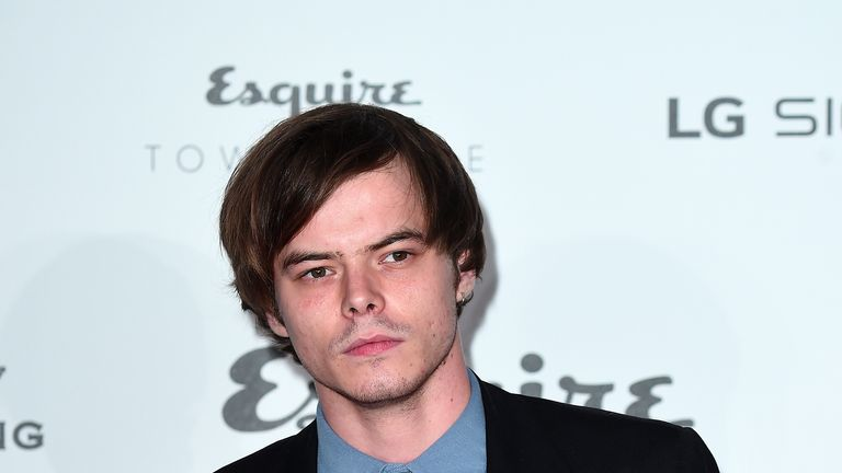 Charlie Heaton was unable to attend the Stranger Things premiere