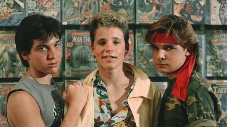 Haim (left) and Feldman first starred together in The Lost Boys, five years after Haim was allegedly raped