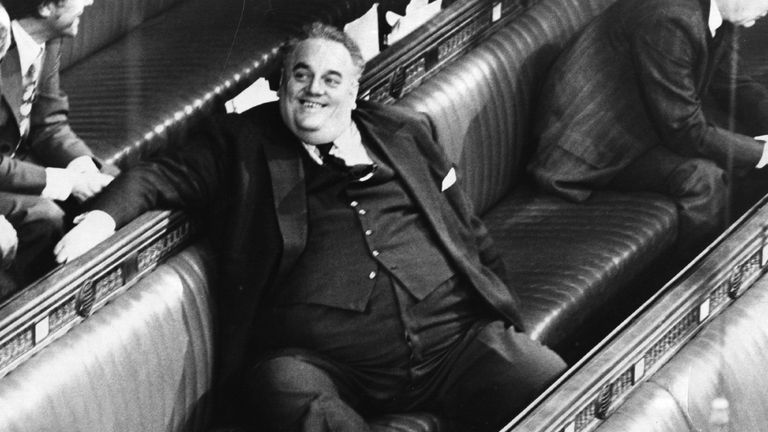 Cyril Smith in the House of Commons in 1982