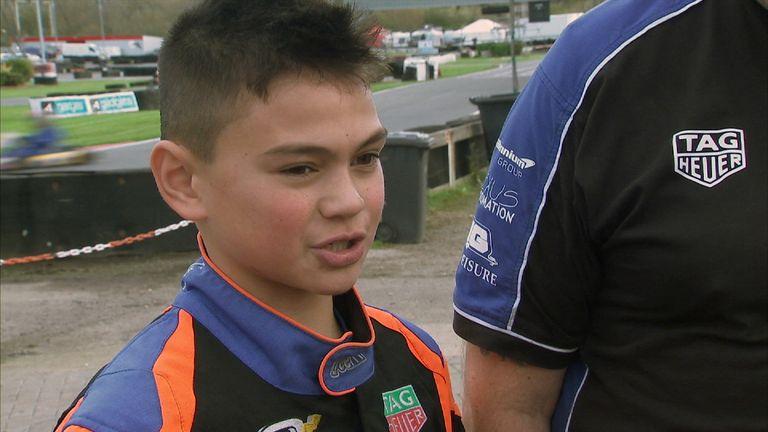 Daryl Taylor, 12, says Hamilton is his idol