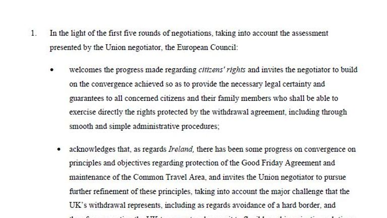 European Council draft conclusions