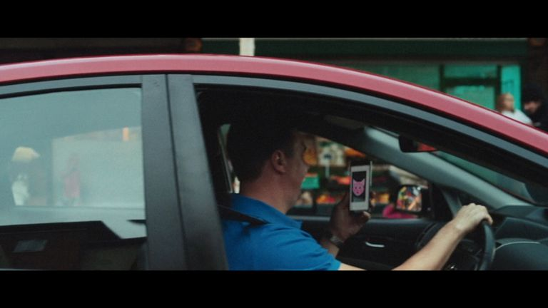 The Department for Transport's new ad campaign warning drivers against using phones while driving. Pic: DfT