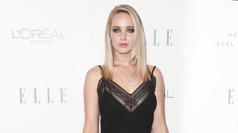 Jennifer Lawrence attending the Elle: Women in Hollywood awards