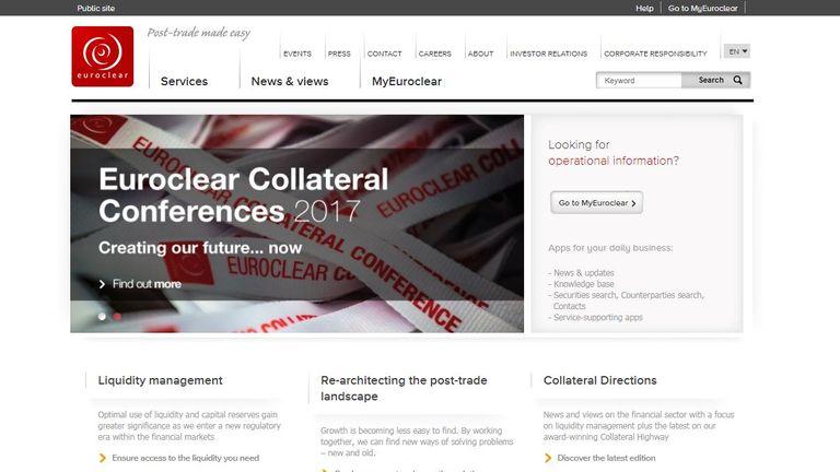 Euroclear website